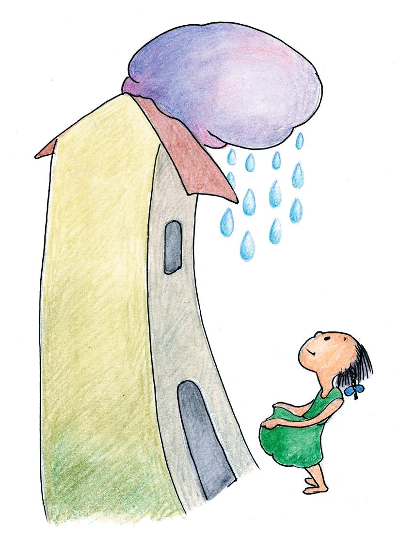 मुलगी,घर आणि पाऊस